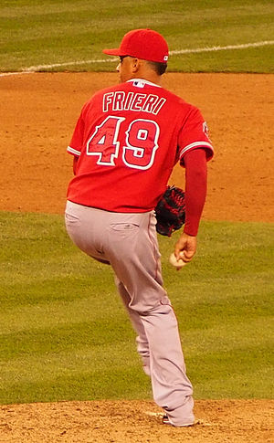 Ernesto Frieri - Frieri during his tenure with the Los Angeles Angels in 2014