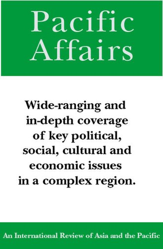 Pacific Affairs - Image: P Acover 82wiki