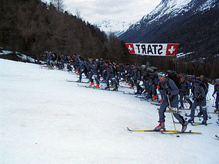 Ski mountaineering winter sport