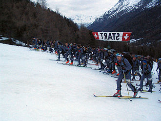 Ski mountaineering - Start at Arolla, Patrouille des Glaciers 2006