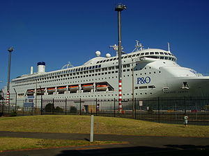 White Bay (New South Wales) - P&O Cruise Ship Pacific Jewel docked at White Bay Wharves in 2009