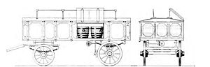 Pail closet - A wagon used to transport night soil