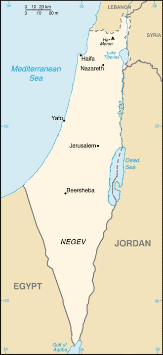 Palestine frontier 1922