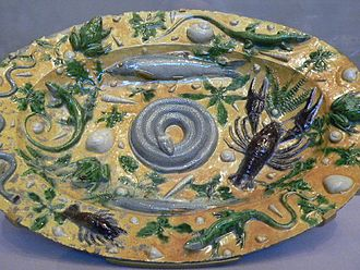 Bernard Palissy - Rusticware featuring casts of sea life (1550)