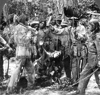 Pamunkey - Pamunkey tribal members re-enact the story of Pocahantas - photo taken in 1910.