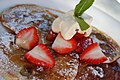 Pancakes with strawberries and cream.jpg
