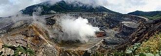 Poás Volcano - Image: Panorama 4 Poas volcano crater