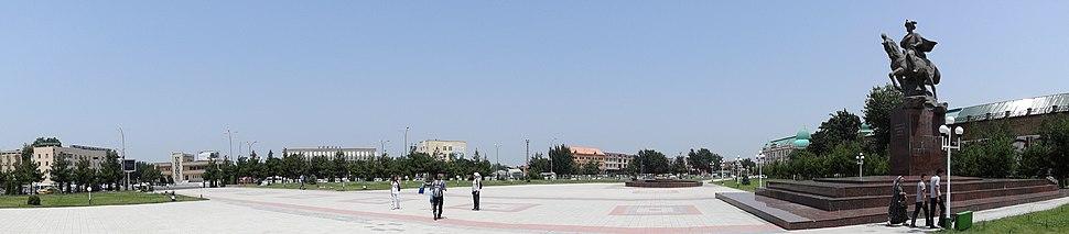 Panorama of Navoi Square (Formerly Bobur Square) - Where 2005 Massacre Took Place - Andijon - Uzbekistan - 01 (7543269364)