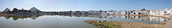 panoramic view of Pushkar lake
