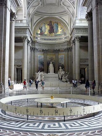 Foucault pendulum - Foucault's pendulum in the Panthéon, Paris
