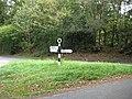 Parham, Old WSCC signpost - geograph.org.uk - 1500231.jpg