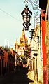 Parroquia de San Miguel Arcangel, vista desde un callejon.JPG