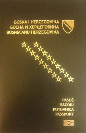 Visa requirements for Bosnia and Herzegovina citizens - A Bosnia and Herzegovina passport
