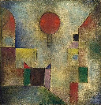 Paul Klee - Red Balloon, 1922, oil on muslin primed with chalk, 31.8 x 31.1 cm. The Solomon R. Guggenheim Museum, New York