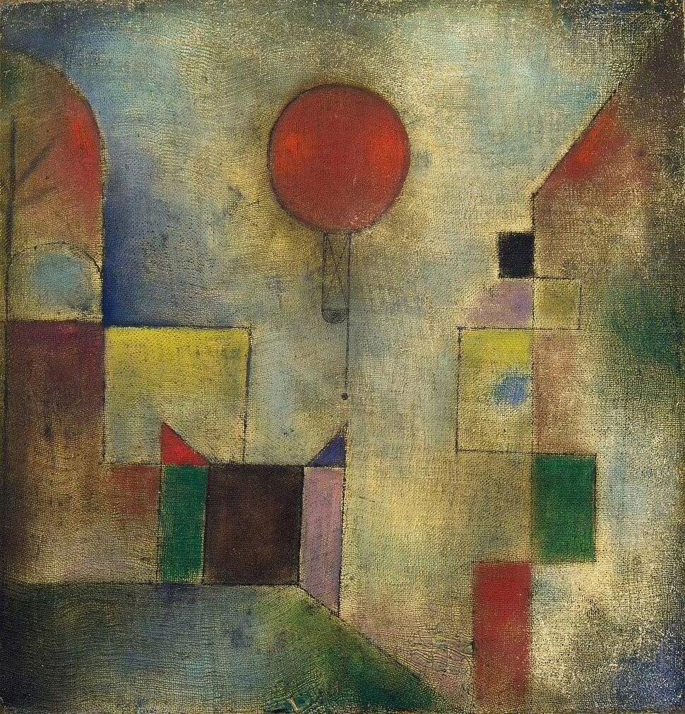 Paul Klee, 1922, Red Balloon, oil on chalk-primed gauze, mounted on board, 31.7 x 31.1 cm, Solomon R. Guggenheim Museum