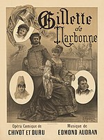 Paul Maurou - Poster for Edmond Audran's Gillette de Narbonne.jpg