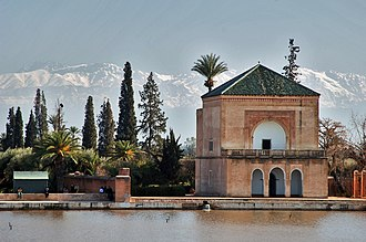 Marrakesh - In winter, the Atlas mountains typically are covered in snow and ice