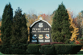 Pease Air National Guard Base - Base sign in 1987