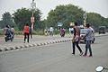 Pedestrians Crossing Banur Kharar Highway - Landran - Mohali 2016-08-05 7098.JPG
