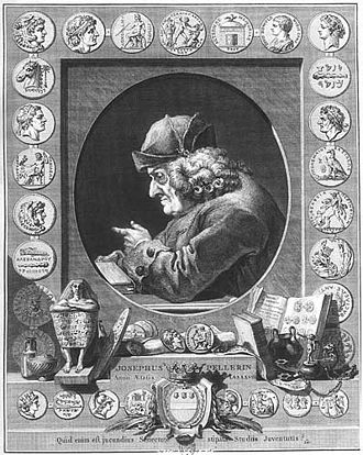 Joseph Pellerin - Pellerin surrounded by some of his coins