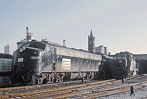 Indianapolis Union Station - Image: Penn Central E8A 4306 with Train 31, The Spirit of St. Louis, at Indianapolis, IN on December 14, 1970 (24801419486)