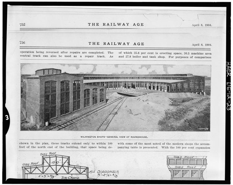 File:Pennsylvania Railroad Improvements, Repair Shop, Vandever and Bowers Streets, Wilmington, New Castle County, DE HAER DEL,2-WILM,33A-14.tif