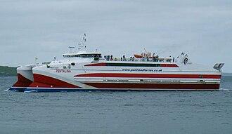 Pentland Ferries - MV Pentalina approaching Gills Bay