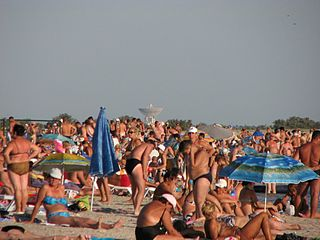 People at the beach, Crimea.JPG