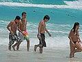 People on the beach, Fiesta Americana Condessa.jpg