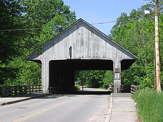 Pepperell, Massachusetts - The old Pepperell covered bridge