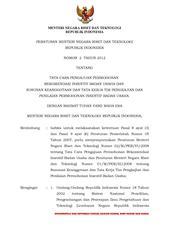 Peraturan kpu nomor 8 tahun 2012 pdf