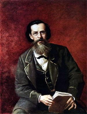 Apollon Maykov - Portrait of Maykov by Vasily Perov