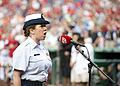 Petty Officer 1st Class Jennifer Crist sings the national anthem 140806-G-CF771-121.jpg