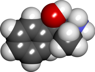 Phenylpropanolamine - Space filling model of phenylpropanolamine.