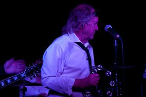 Phil May (singer) - Phil May on stage with the Pretty Things in 2013.
