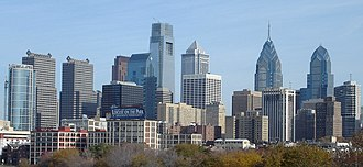 Downtown - Center City, Philadelphia, the second most populous downtown in the United States