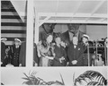 Photograph of President Truman and Queen Juliana of the Netherlands, with other dignitaries, during welcoming... - NARA - 200375.tif