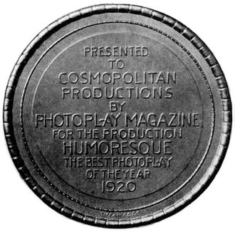 Humoresque (1920 film) - Image: Photoplay Medal 1920