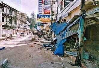 Patong - Patong Beach after the 2004 tsunami