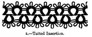 loop of thread created for functional or ornamental purposes along the edge of lace, ribbon, crocheted, knitted or tatted material