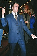Waxwork of Pierce Brosnan as Bond