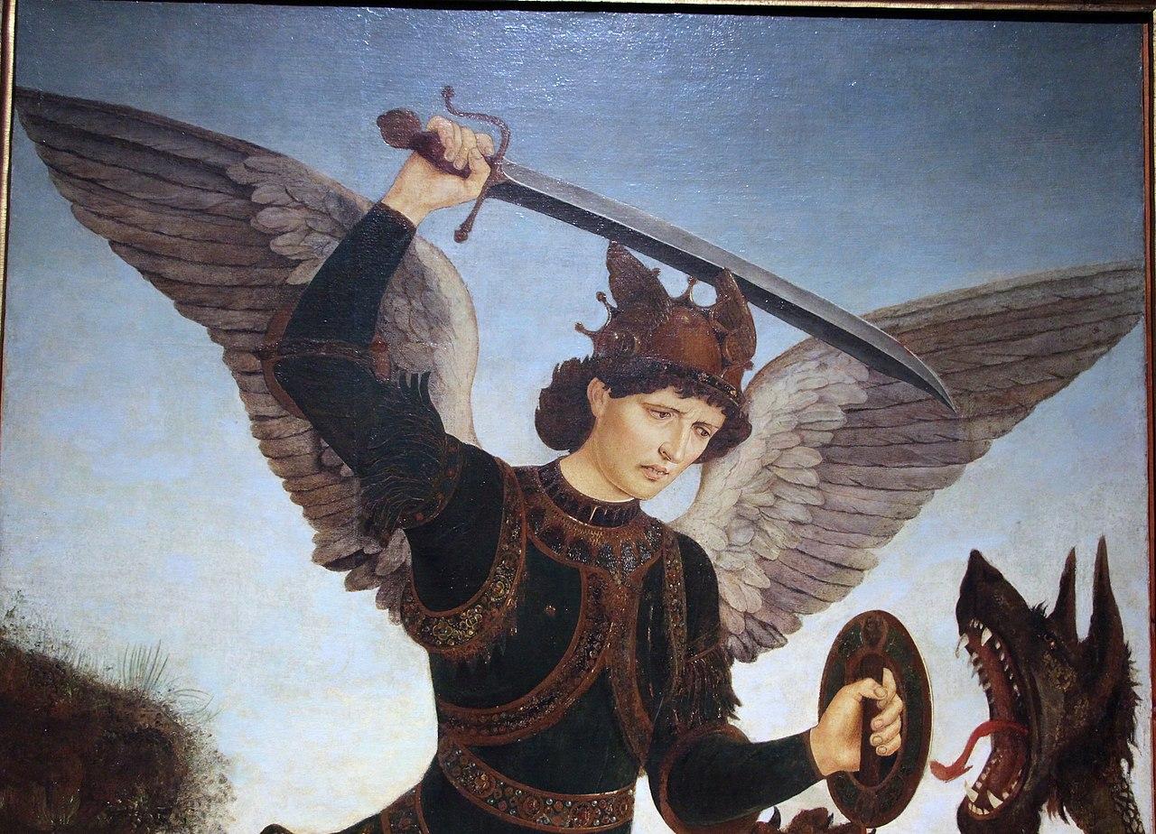 File Piero Del Pollaiolo San Michele Arcangelo E Il Drago Ante 1465