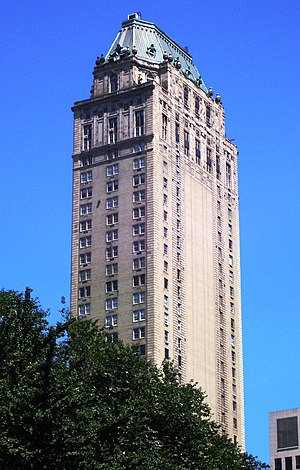 The Pierre - The Pierre rises over Central Park