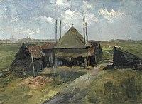 Piet Mondriaan - Haystack and farm sheds in a field - A148 - Piet Mondrian, catalogue raisonné.jpg