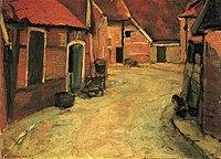 Piet Mondriaan - The Lappenbrink, view toward the Nieuwstraat, oil sketch - A67 - Piet Mondrian, catalogue raisonné.jpg