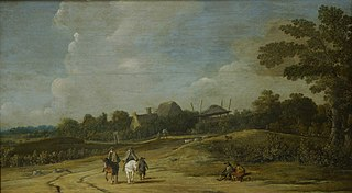 Landscape with Riders on a Sandy Road