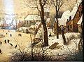 Pieter bruegel il vecchio, paesaggio invernale con trappola per uccelli, 1565, 03.JPG