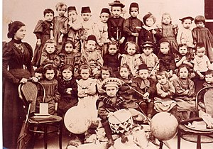First Aliyah - Kindergarten in Rishon Lezion, c.1898