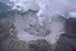 One of the early explosive eruptions at Pinatubo after the April 1991 onset of ash eruptions