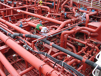 Piping system on a chemical tanker.jpg